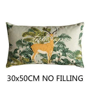 Her Shop Cushion Cover H Decorative Pillow Case Vintage Jungle Animal