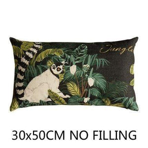 Her Shop Cushion Cover I Decorative Pillow Case Vintage Jungle Animal