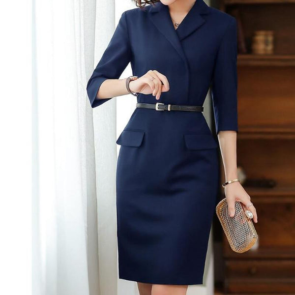 Her Shop Dress Autumn/Winter High Quality Office Dress