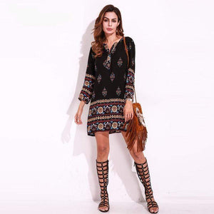Her Shop Dress Ethnic Style Mini Dress