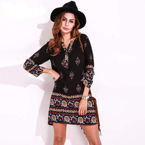 Her Shop Dress As Picture / S Ethnic Style Mini Dress