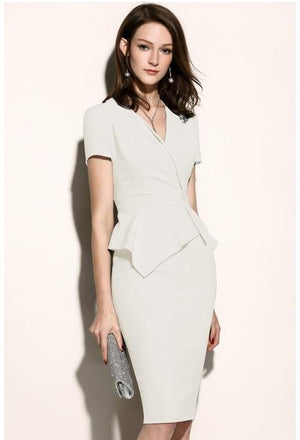 Her Shop Dress only dress 2 / XL High Quality New Women Office Dress