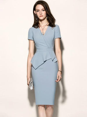 Her Shop Dress only dress / L High Quality New Women Office Dress
