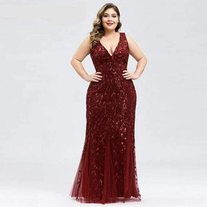 Her Shop Dress EP07886BD / 4 Plus Size Elegant Evening Dresses