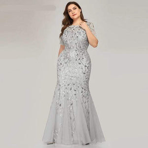 Her Shop Dress EZ07707SV / 4 Plus Size Elegant Evening Dresses