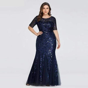 Her Shop Dress EZ07707NB / 4 Plus Size Elegant Evening Dresses