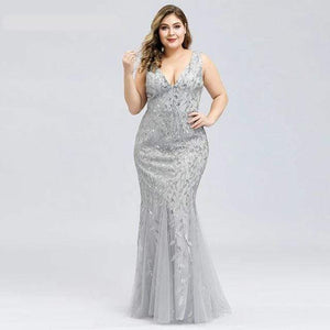 Her Shop Dress EP07886SV / 4 Plus Size Elegant Evening Dresses