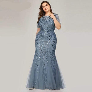 Her Shop Dress EZ07707DN / 4 Plus Size Elegant Evening Dresses