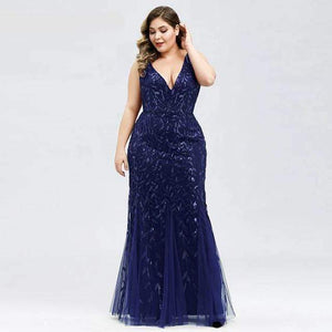 Her Shop Dress EP07886NB / 4 Plus Size Elegant Evening Dresses