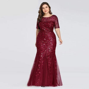 Her Shop Dress EZ07707BD / 4 Plus Size Elegant Evening Dresses