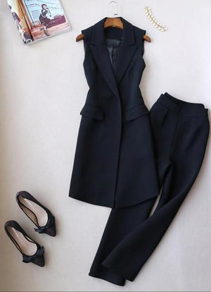 Her Shop Dress black / M Spring Autumn Fashion Women Two Piece Set