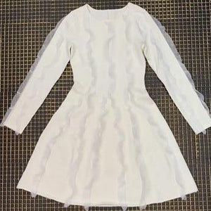 Her Shop Dress White / XS Top Quality White Jacquard Party Dress
