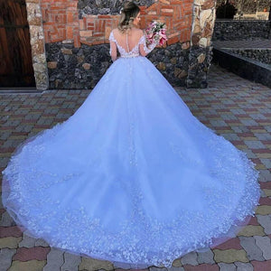 Her Shop Dress White Princess Ball Gown Wedding Dress