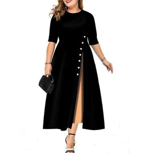 Her Shop Dresses black / XXL Elegant Plus Size Evening Dress / Office Dress for Women L-3XL