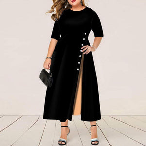 Her Shop Dresses Elegant Plus Size Evening Dress / Office Dress for Women L-3XL