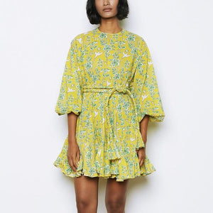 Her Shop Dresses Yellow / S Elegant Print Dresses