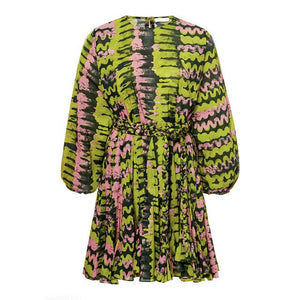 Her Shop Dresses Green / L Elegant Print Dresses
