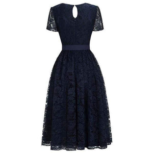 Her Shop Dresses Navy Blue / 2 Evening Gowns With Sashes Robe