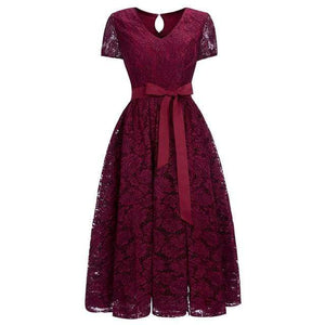 Her Shop Dresses Burgundy / 2 Evening Gowns With Sashes Robe