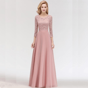 Her Shop Dresses Lace Chiffon Long Evening Gown