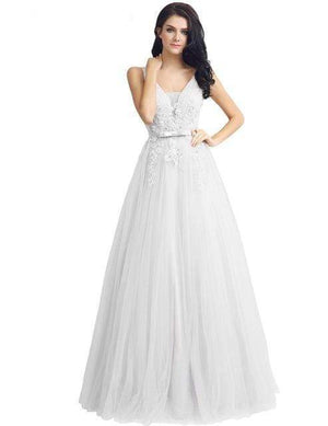Her Shop Dresses White / 2 Long Evening Dresses / Prom Party Gowns