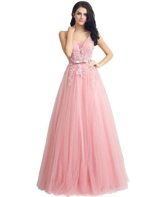 Her Shop Dresses Pink / 2 Long Evening Dresses / Prom Party Gowns