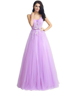 Her Shop Dresses lilac / 2 Long Evening Dresses / Prom Party Gowns