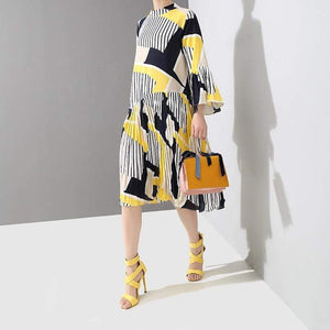 Her Shop Dresses New  Fashion Pleated Loose Dress