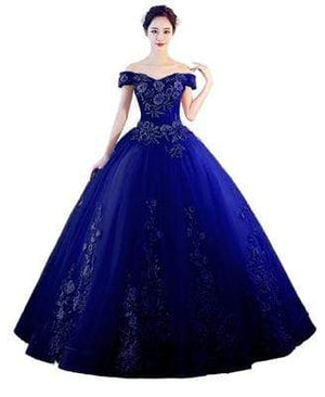 Her Shop Dresses royal blue / 2 Pink Appliques Sweetheart Prom Dresses