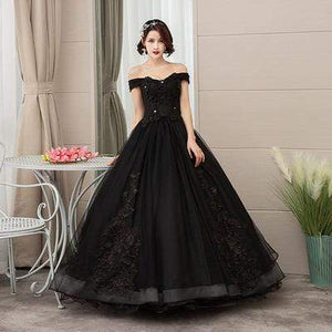 Her Shop Dresses Black / 2 Pink Appliques Sweetheart Prom Dresses