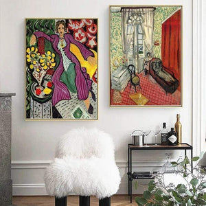 Her Shop Emily's House Henri Matisse Fauvism Afternoon Tea Girl Posters