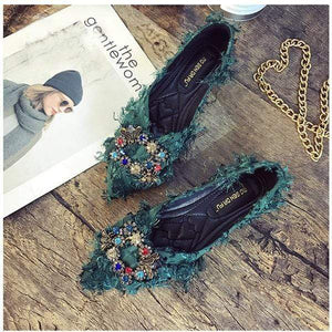 Her Shop Flats 2019 Spring Fashion Women Rhinestone Casual Shoes
