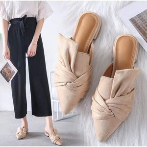 Her Shop Flats Elegant Woman Mules Slipper