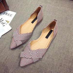 Her Shop Flats Red / 4.5 Women's Pointed Toe Elegant Casual Slip-on Shoes