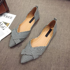 Her Shop Flats Black / 4.5 Women's Pointed Toe Elegant Casual Slip-on Shoes