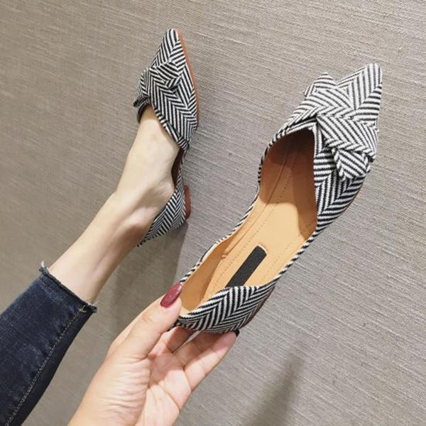 Her Shop Flats Women's Pointed Toe Elegant Casual Slip-on Shoes