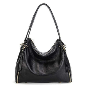 Her Shop Handbag Black / (30cm<Max Length<50cm) Genuine Leather Shoulder Messenger Bag