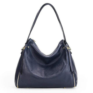 Her Shop Handbag Blue / (30cm<Max Length<50cm) Genuine Leather Shoulder Messenger Bag