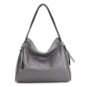 Her Shop Handbag Gray / (30cm<Max Length<50cm) Genuine Leather Shoulder Messenger Bag