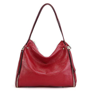 Her Shop Handbag Burgundy / (30cm<Max Length<50cm) Genuine Leather Shoulder Messenger Bag