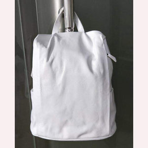 Her Shop Handbags Pure White / China 100% Genuine Leather Black Backpack
