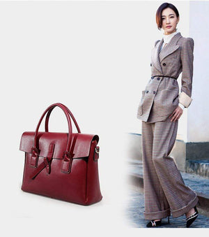 Her Shop Handbags Genuine Leather Women Business Briefcase
