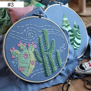 Her Shop handcraft new 3 / 20cm Bamboo Hoop kit Embroidery DIY Kit