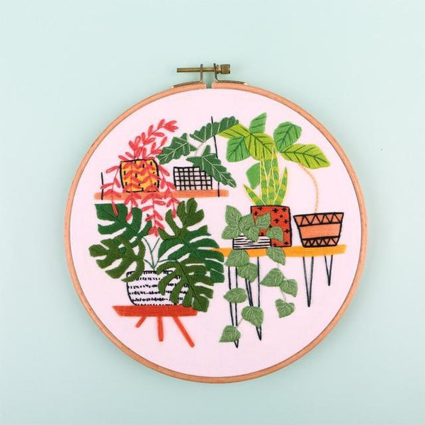 Her Shop handcraft 8 / 20cm Bamboo Hoop kit Embroidery DIY Kit