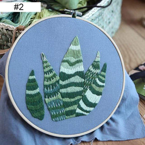 Her Shop handcraft new 2 / 20cm Retro Hoop kit Embroidery DIY Kit