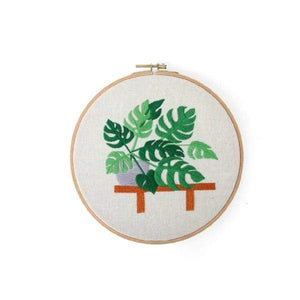 Her Shop handcraft 01 No Hoop Modern Embroidery Handcraft DIY Kit