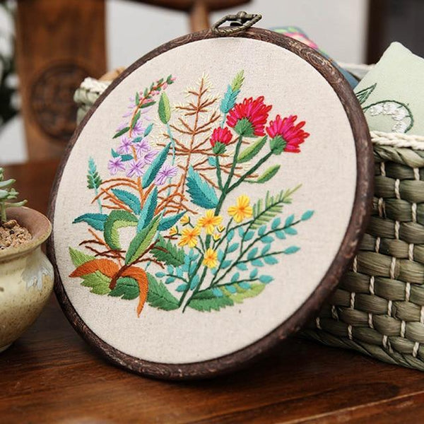 Her Shop handcraft 2 Plant Collections Handcraft Embroidery Needlework Kits