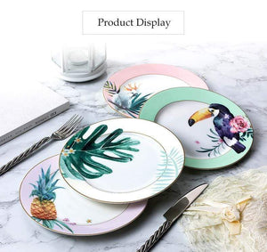 Her Shop High Quality Bone Porcelain 8 Inch Japanese Ceramic Tableware