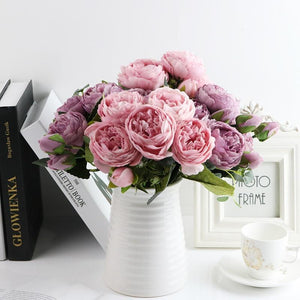 Her Shop Home Decoration 1 bundle Silk Peony bouquet