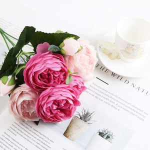 Her Shop Home Decoration light rose 1 bundle Silk Peony bouquet